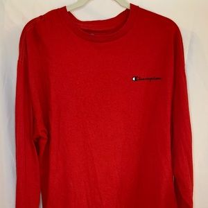 Champion red long sleeve t shirt size XL